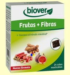 Cubo Frutas y Fibras - Transito intestinal - Biover - 24 cubos masticables