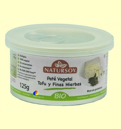 Paté vegetal Tofu y Finas Hierbas - Natursoy - 125 gramos