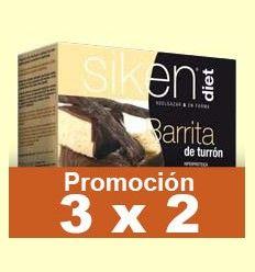 Barrita de Turrón - Siken Diet - 5 barritas - Promoción 3x2