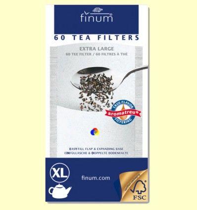 Filtros de Té - Extra Large - Finum - 60 filtros XL