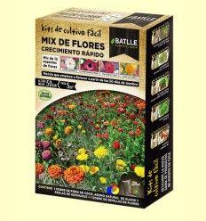 Kits de cultivo fácil Mix de Flores Crecimiento Rápido - Batlle