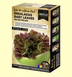 Kits de cultivo fácil Baby leaves Hojas Rojas - Batlle