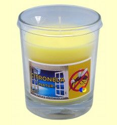 Vela en vaso cristal de citronela - Aromalia - 10 cm
