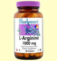 L-Arginina 1000 mg - Bluebonnet - 50 comprimidos