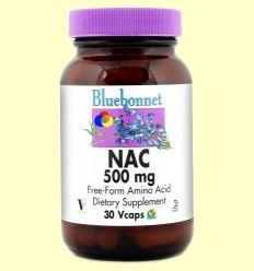 NAC 500 mg - Bluebonnet - 30 cápsulas vegetales