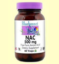 NAC 500 mg - Bluebonnet - 60 cápsulas vegetales