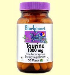 Taurina 1000 mg - Bluebonnet - 50 cápsulas vegetales