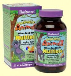 Super Earth Rainforest Animalz Multiple - Bluebonnet - 90 comprimidos masticables *