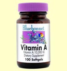 Vitamina A 10.000 UI - Bluebonnet - 100 cápsulas blandas *