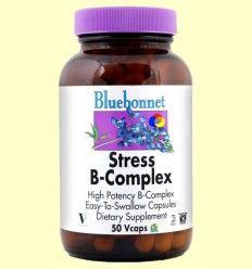 OFERTA-40% - Stress B-Complex - Bluebonnet - 50 cápsulas vegetales - CAD: 31-08-2017