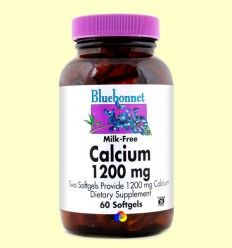 Calcio 1200 mg con Vitamina D3 - Bluebonnet - 60 cápsulas blandas