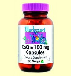 Coenzima Co Q-10 100 mg - Bluebonnet - 30 cápsulas vegetales