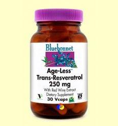 Age-Less Trans Resveratrol 250 mg - Bluebonnet - 30 cápsulas vegetales *