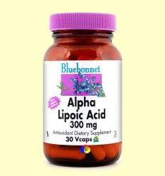 Ácido Alfa Lipoico 300 mg - Bluebonnet - 30 cápsulas vegetales *