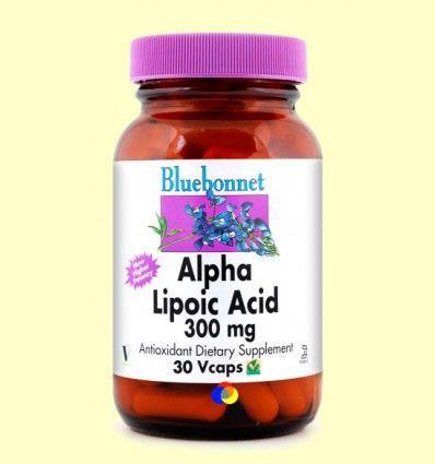 Ácido Alfa Lipoico 300 mg - Bluebonnet - 30 cápsulas vegetales