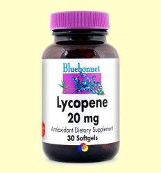 Licopeno 20 mg - Bluebonnet - 30 cápsulas blandas