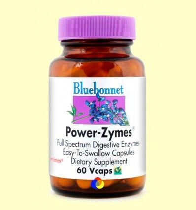 Power-Zymes Enzimas Digestivas - Bluebonnet - 60 cápsulas vegetales