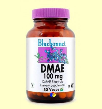 DMAE 100 mg - Bluebonnet - 50 cápsulas vegetales