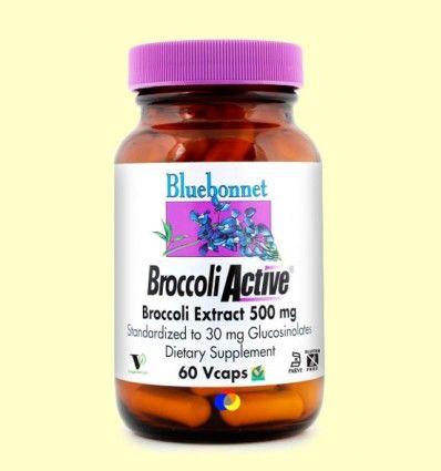 Broccoli Active 500 mg - Bluebonnet - 60 cápsulas vegetales