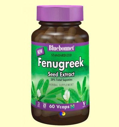 Fenogreco Estandarizado - Bluebonnet - 60 cápsulas vegetales