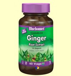 Jengibre Estandarizado - Bluebonnet - 60 cápsulas vegetales *