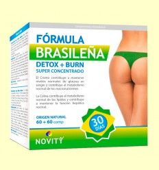 Detox + Burn Fórmula Brasileña - Novity - 60 + 60 comprimidos