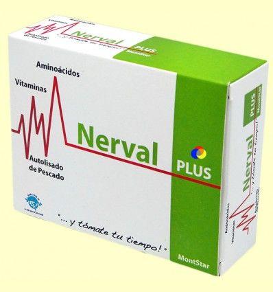 Nerval Plus - Para calmar los nervios - MontStar - 45 cápsulas