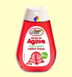 Sirope de Agave Bio - Sabor fresa - El Granero - 335 gramos