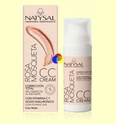 Rosa Mosqueta CC Cream - Color medio - FPS 30 - Natysal - 50 ml