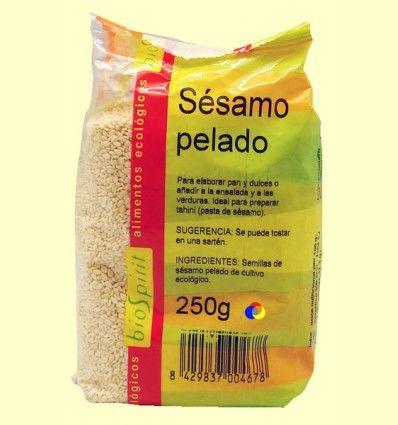Sésamo pelado ecológico - BioSpirit - 250 gramos