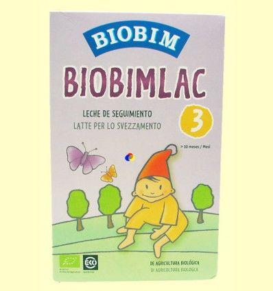 Biobimlac 3 - +10 meses - Leche de seguimiento ecológica - Biobim - 450 gramos