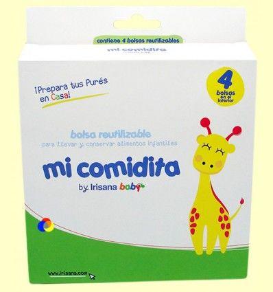 Mi Comidita - Bolsa reutilizable para llevar y conservar alimentos infantiles - 4 bolsas