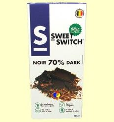 Chocolate Negro 70% con Stevia - Sweet Switch - 100 gramos