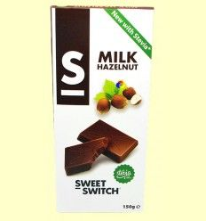 Chocolate con Leche y Avellanas con Stevia - Sweet Switch - 150 gramos