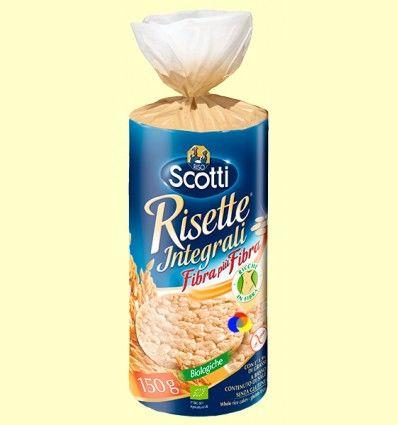 Galletas de arroz biológico integral - Scotti - 150 gramos
