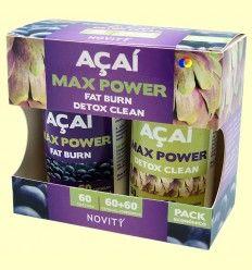 Açaí Max Power - Novity - 60 + 60 cápsulas