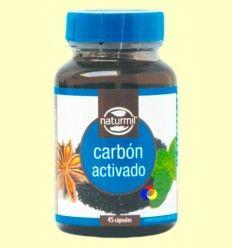 Carbón activado - Naturmil - 45 cápsulas