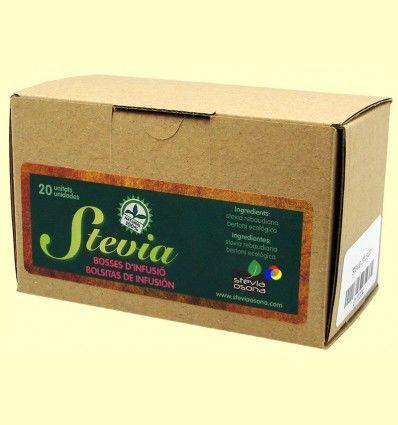 Infusión Stevia bolsitas individuales - Stevia Osona - 20 sobres