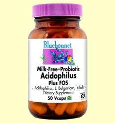 Milk Free Acidophilus Plus Fos - Bluebonnet - 50 cápsulas