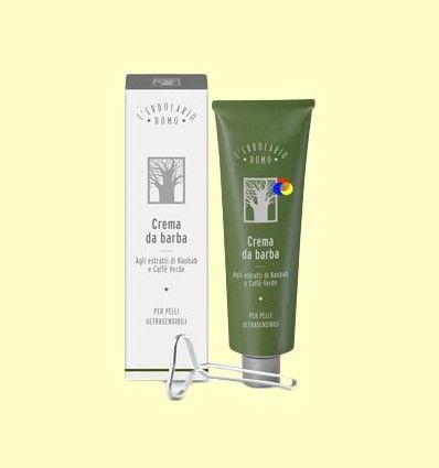 Crema de Afeitar a los Extractos de Baobab y Té Verde para Piel Ultrasensible - L'Erbolario - Uomo - 150 ml