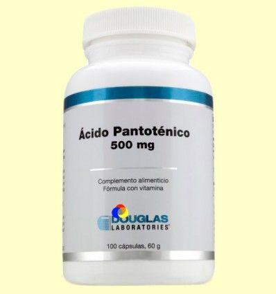 Ácido Pantoténico 500 mg - Laboratorios Douglas - 100 cápsulas