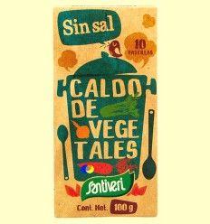 Caldo Vegetal Sin Sal - Santiveri - 10 pastillas