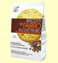 Galletas Bio de espelta con uva pasa - La Finestra Sul Cielo - 250 gramos