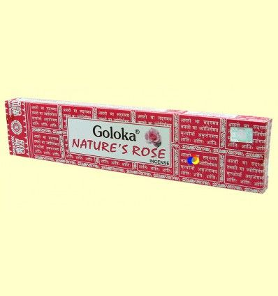 Incienso Nature's Rose - Goloka - 15 gramos