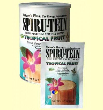 Spiru Tein - Frutas Tropicales - Natures Plus - 544 gramos