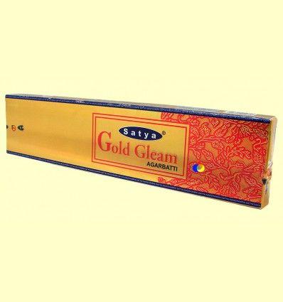 Incienso Gold Gleam Agarbatti - Satya - 25 gramos