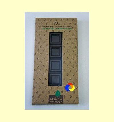 Chocolate Negro 70% Stevia - Stevia Osona - 100 gramos