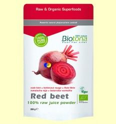 Remolacha Roja polvo Bio - Biotona - 200 gramos