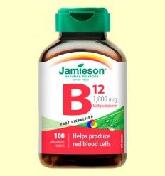 Vitamina B12 (Metilcobalamina) 1000 mcg Sublingual - Jamieson - 100 comprimidos