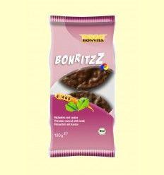 Tortitas de Arroz Recubiertas con Chocolate y Algarroba Bio - Bonvita - 100 gramos